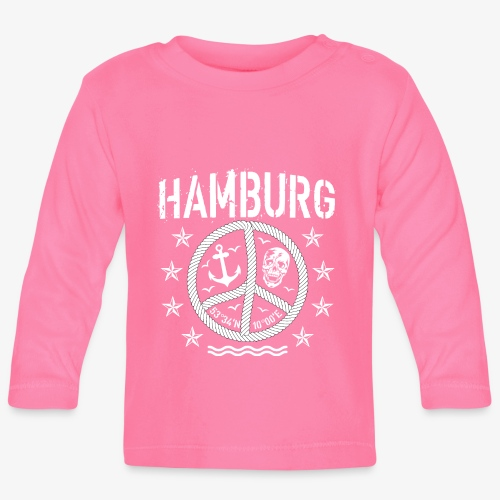 105 Hamburg Peace Anker Seil Koordinaten - Baby Langarmshirt