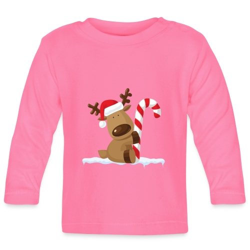 Reindeer on Ice - Baby Langarmshirt