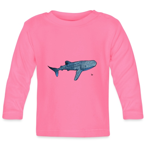 Hvalhai - Langarmet baby-T-skjorte