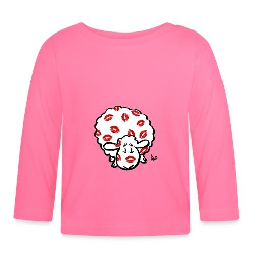 Kiss Ewe - Langarmet baby-T-skjorte