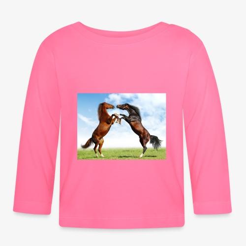 kaksi hevosta - Vauvan pitkähihainen paita