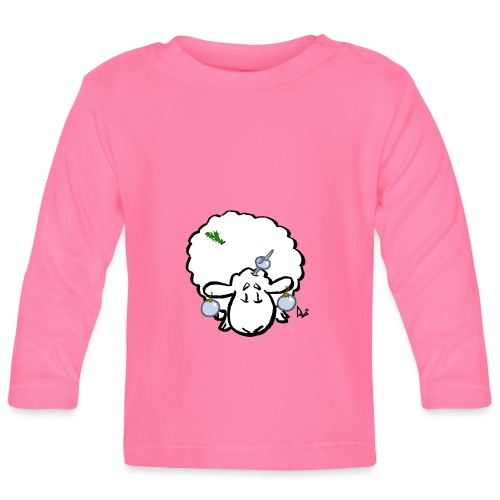Christmas Tree Sheep - Baby Long Sleeve T-Shirt