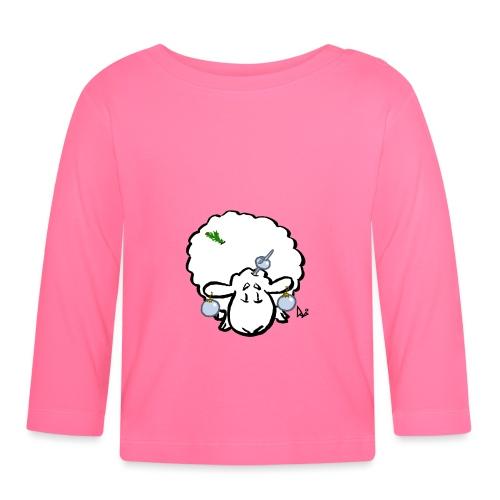 Pecore dell'albero di Natale - Maglietta a manica lunga per bambini