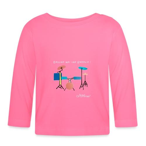 Azia Drum White - Baby Long Sleeve T-Shirt
