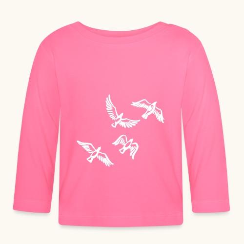 Oiseau essaim Idée de cadeau De la Colombe de la Paix Drôle - T-shirt manches longues Bébé