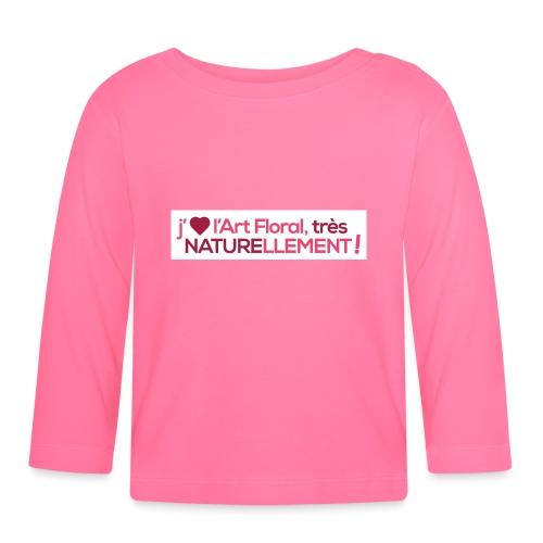 j'aime l'art floral coeur rose - T-shirt manches longues Bébé