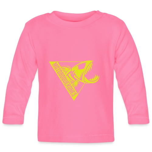 Logo Motoboquerones amarillo - Camiseta manga larga bebé