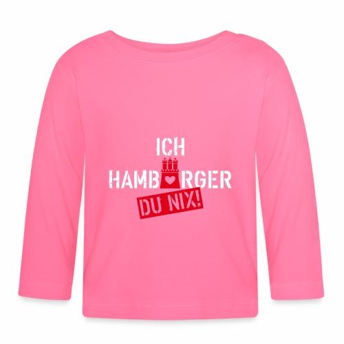108 Ich Hamburger Du Nix Wappen Spruch Humor - Baby Langarmshirt