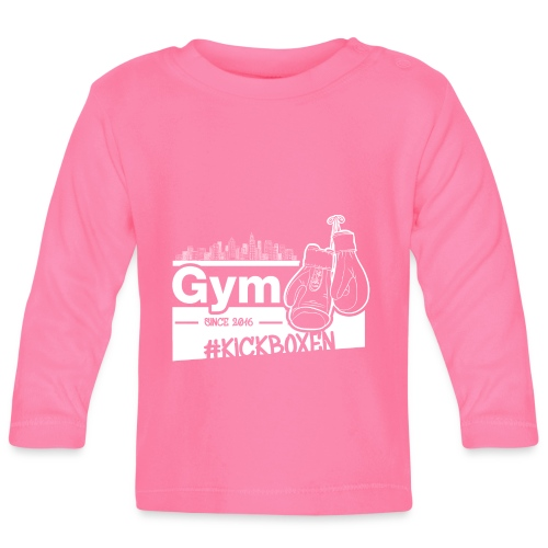 Gym Druckfarbe weiss - Baby Langarmshirt