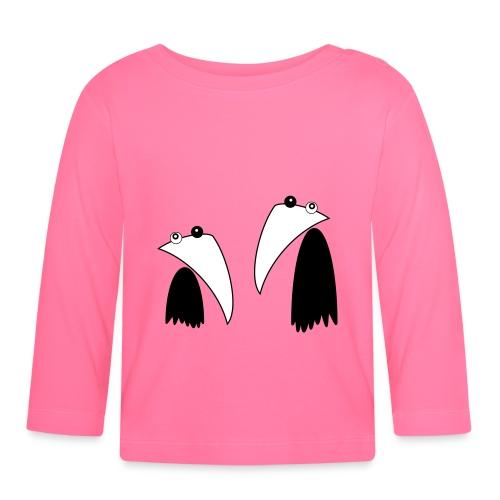 Raving Ravens - black and white 1 - Baby Langarmshirt