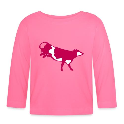 Landende koe vector - T-shirt