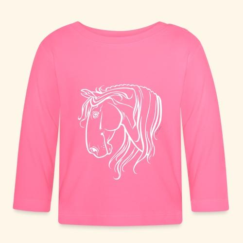 Cheval espagnol (blanc) - T-shirt manches longues Bébé