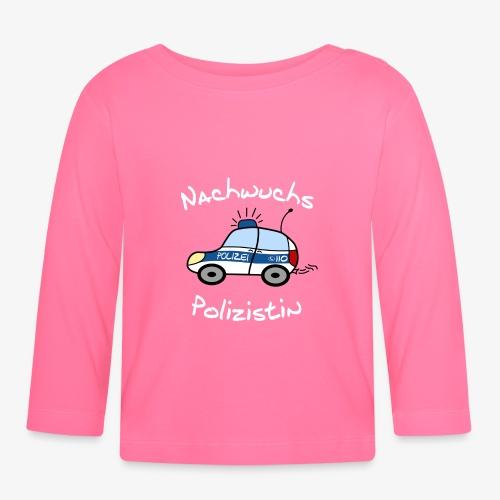 nachwuchs polizistin weiss - Baby Langarmshirt
