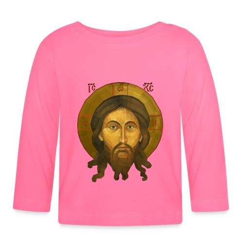 Jesus Christ Icon - The Mandilion Christ - Baby Long Sleeve T-Shirt
