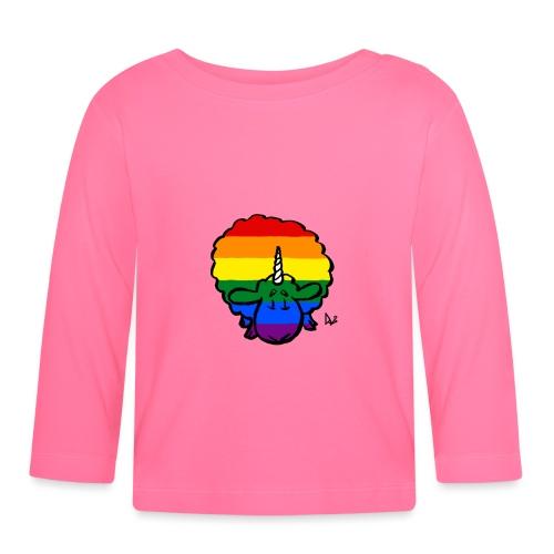 Rainbow Ewenicorn - det er en enhjørning sau! - Langarmet baby-T-skjorte