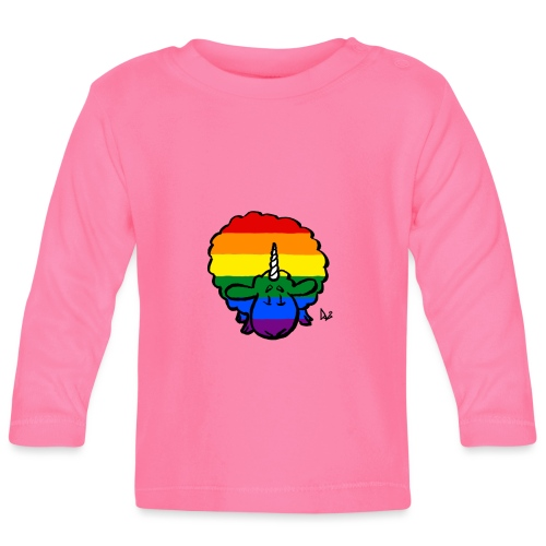 Rainbow Ewenicorn - it's a unicorn sheep! - Baby Long Sleeve T-Shirt
