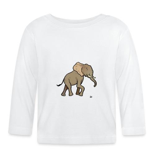 Afrikanischer Elefant - Baby Langarmshirt