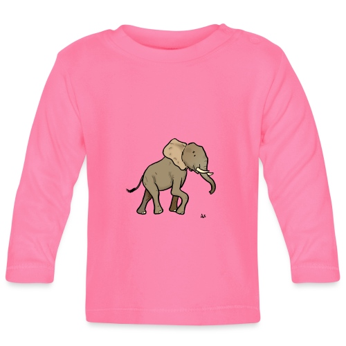 African Elephant - Baby Long Sleeve T-Shirt
