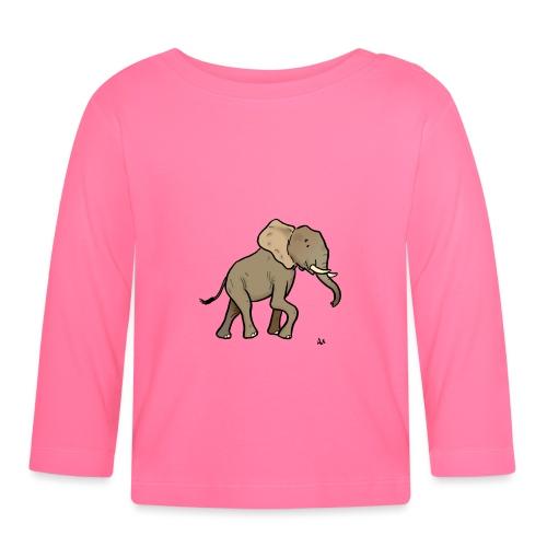 Éléphant d'Afrique - T-shirt manches longues Bébé