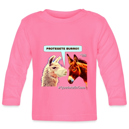 PROTEGETE BURRO - Baby Langarmshirt