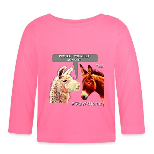 Protect Yourself Donkey - Coronavirus - Baby Long Sleeve T-Shirt