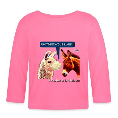 PROTEGEZ-VOUS L'ÂNE !! - Coronavirus - Baby Long Sleeve T-Shirt