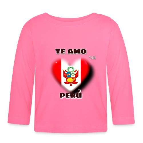 Te Amo Peru Corazon - Baby Langarmshirt
