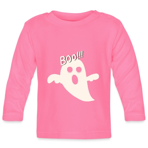 Halloween Geist - Boo!! - Baby Langarmshirt