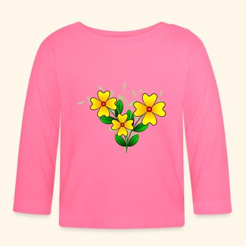 Blumenstrauß mit gelben Blumen, floral, Blüten - Baby Langarmshirt