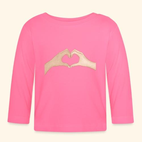 Mains Coeur Amour - Love hands - T-shirt manches longues Bébé
