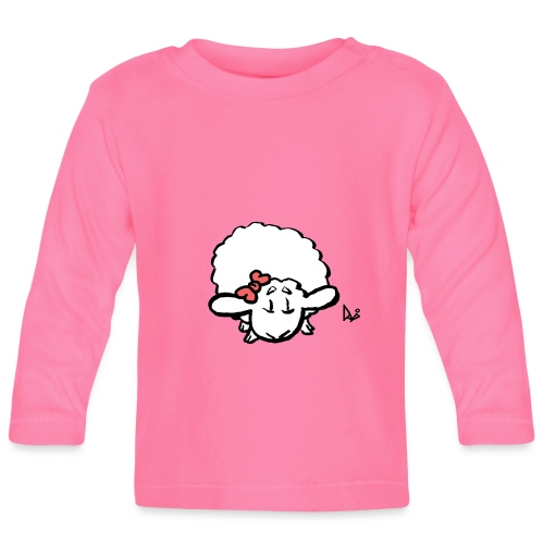 Baby Lamb (pink) - Baby Long Sleeve T-Shirt