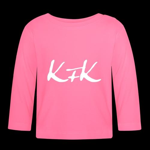 KFK logo blanco - Camiseta manga larga bebé