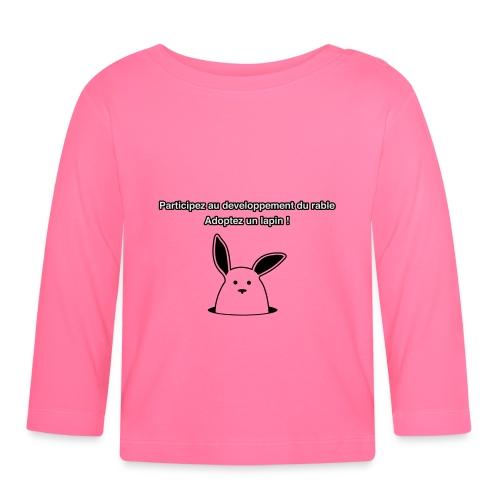 adoptez un lapin ! - T-shirt manches longues Bébé