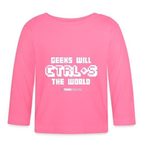 Geeks will save the world - Maglietta a manica lunga per bambini