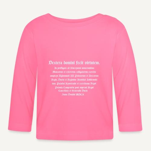 napis - Koszulka niemowlęca z długim rękawem