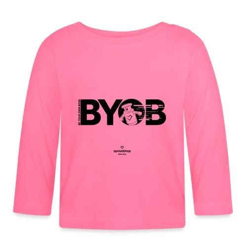 BYOB2 Dark Robot - Baby Long Sleeve T-Shirt
