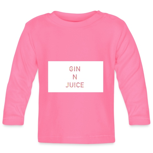 Gin n juice geschenk geschenkidee - Baby Langarmshirt