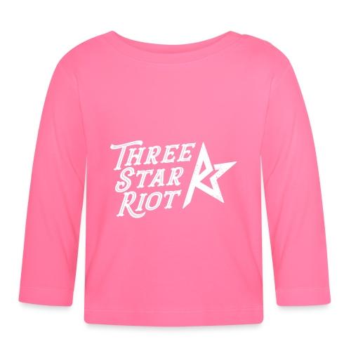 Three Star Riot logo vaalea - Vauvan pitkähihainen paita