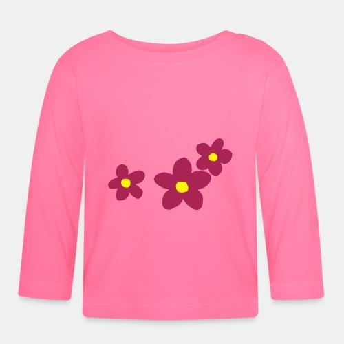 Three Flowers - Baby Long Sleeve T-Shirt