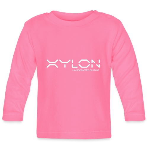 Xylon Handcrafted Guitars (name only logo white) - Baby Long Sleeve T-Shirt