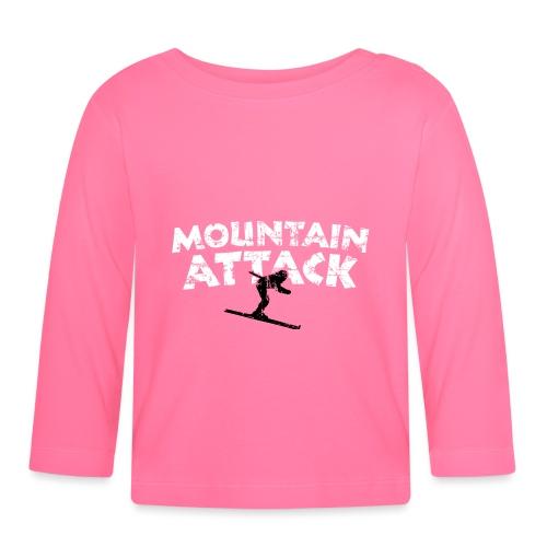 MOUNTAIN ATTACK Wintersport Ski Design (B&W) - Baby Langarmshirt