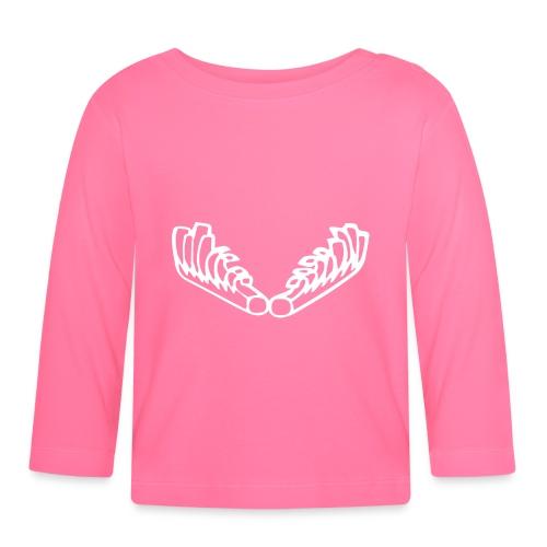Kiehiset_logo_valk_vetoketjuhuppari - Vauvan pitkähihainen paita