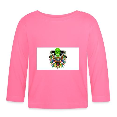 Colorfull skull - Vauvan pitkähihainen paita