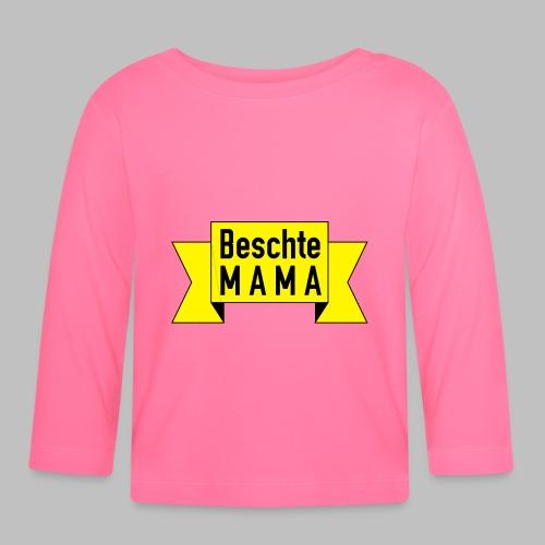 Beschte Mama - Auf Spruchband - Baby Langarmshirt