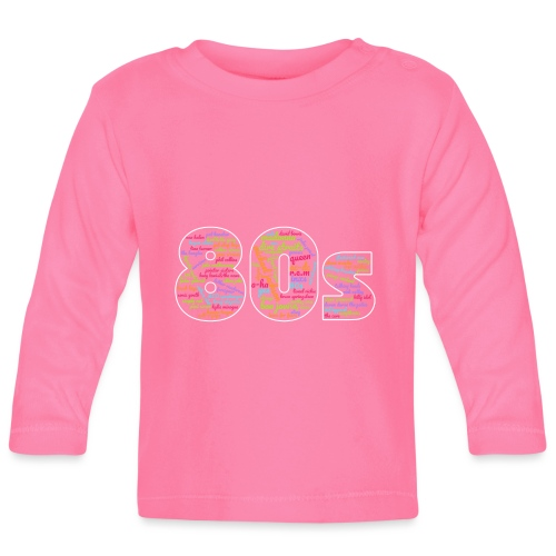 Cloud words 80s - Baby Long Sleeve T-Shirt