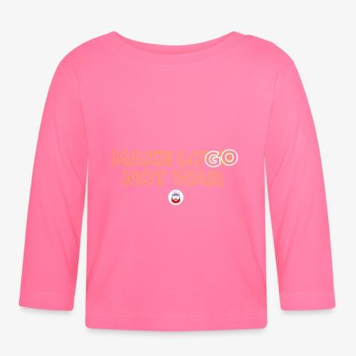 Make LOGO not WAR - Maglietta a manica lunga per bambini