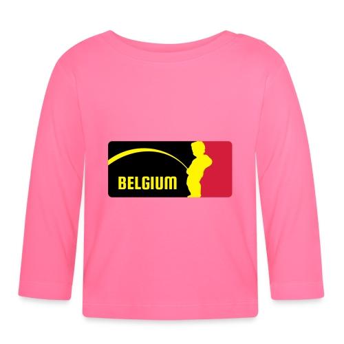 Mannekke Pis, Belgium Rode duivels - Belgium - Bel - T-shirt manches longues Bébé