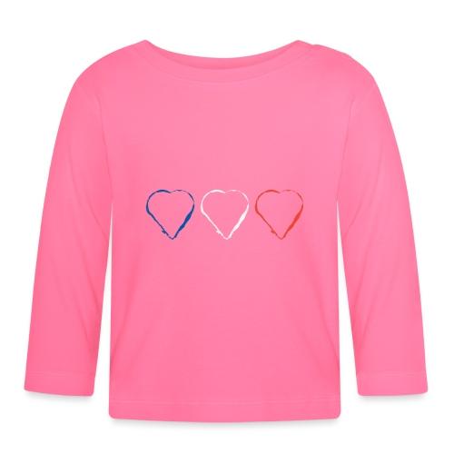3 Herzen für Frankreich 21.1 - Baby Langarmshirt