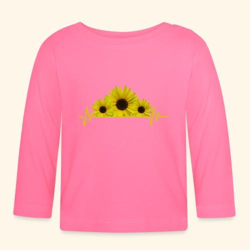 Sonnenblumen Herzschlag Sonnenblume Blumen Blüten - Baby Langarmshirt
