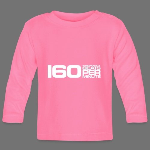 160 BPM (valkoinen pitkä) - Vauvan pitkähihainen paita